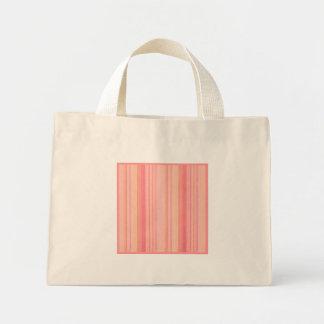 Den Retro färgpersikacitronen görar randig litet Tote Bag