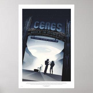 Den Retro futuristiskan reser affischen - Ceres Poster