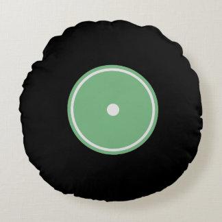 Den Retro gröna rundan för LP-vinylrekord | dämpar Rund Kudde