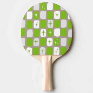 Den Retro grönt- och vitStarbursts pingen Pong Pingisracket