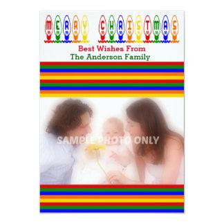 Den Retro julgranen tänder fotokortet 12,7 X 17,8 Cm Inbjudningskort