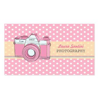 Den Retro kamerafotografipolkaen pricker Set Av Standard Visitkort
