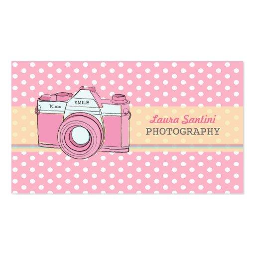 Den Retro kamerafotografipolkaen pricker visitkort