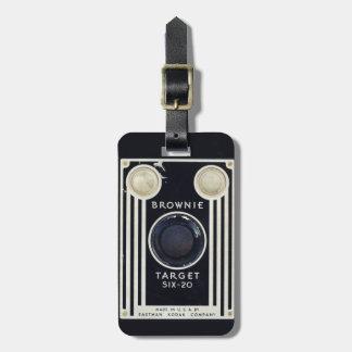 Den Retro kamerakodak nisset uppsätta som mål Bagagebricka