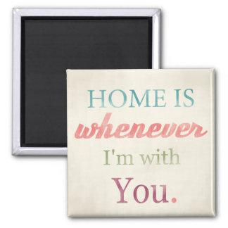 Den Retro kärlekcitationsteckenmagneten, hem är