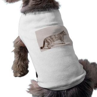 Den Retro katten skissar, nostalgisk barnbokstil Långärmad Hundtöja