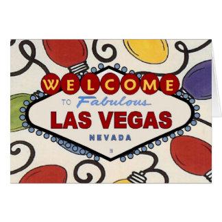 Den Retro Las Vegas julen tänder kortet Kort