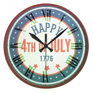 Den Retro lycklig 4th av den Juli 1776 rundaväggen Stor Klocka