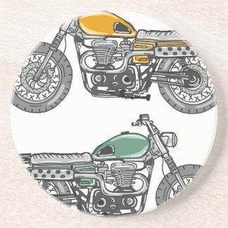 Den Retro motorcykelvektorn skissar Underlägg Sandsten