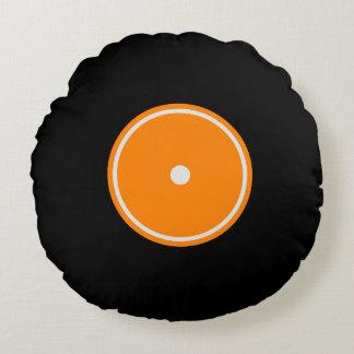 Den Retro orange rundan för LP-vinylrekord | Rund Kudde