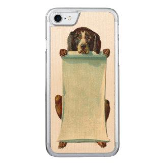 DEN RETRO REBELLISKA hundiPhonen 5/5S bantar trä Carved iPhone 7 Skal