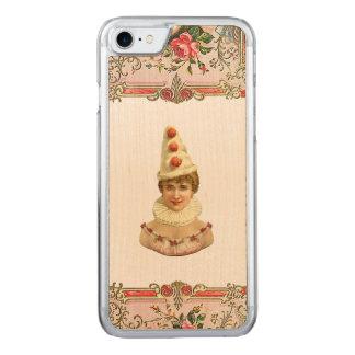 DEN RETRO REBELLISKA nätt Pierrot kvinnaiPhonen Carved iPhone 7 Skal
