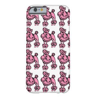 Den Retro rosa franska pudeliphone case täcker Barely There iPhone 6 Fodral