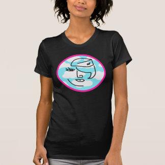 Den Retro stewardessen i rosor cirklar skjortan T Shirts