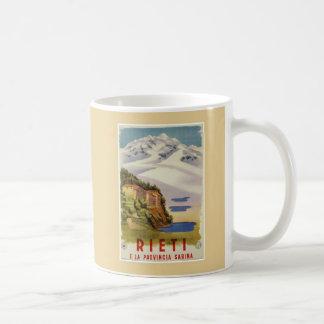 Den Rieti Sabina vintageitalienare reser affischen Kaffemugg