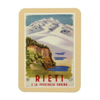 Den Rieti Sabina vintageitalienare reser affischen Magnet