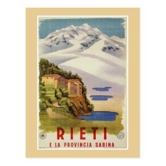 Den Rieti Sabina vintageitalienare reser Vykort