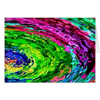 Den rika regnbågen vinkar V7 Hälsningskort