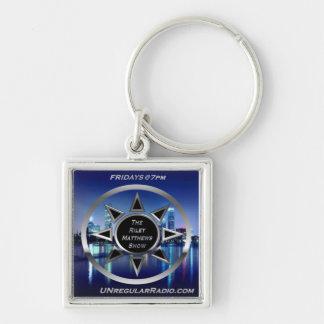 Den Riley Matthews Shownyckelringen Fyrkantig Silverfärgad Nyckelring