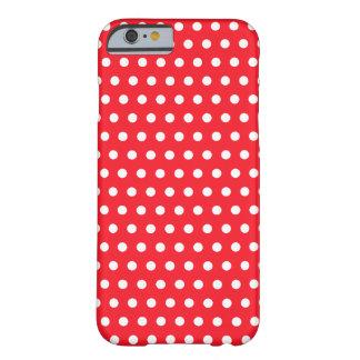 Den röd och vitpolkaen pricker mönster. Spotty. Barely There iPhone 6 Skal