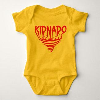Den röda babybodysuiten kanaliserar t shirt