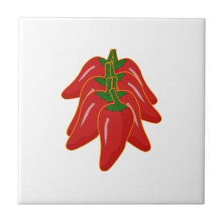 Den röda chilien pepprar logotypen kakelplatta