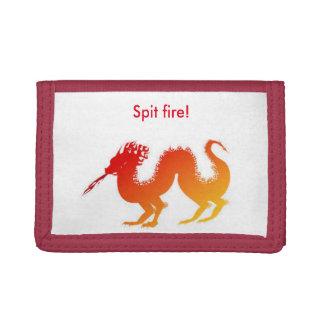 den röda draken spottar avfyrar den trifold