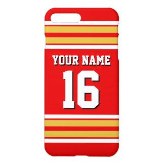 Den röda guld- vitlagJersey anpassningsbar iPhone 7 Plus Skal