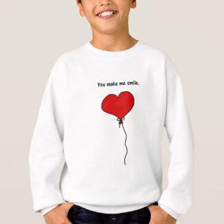 Den röda kärlekhjärtaballongen gör du mig att le tee