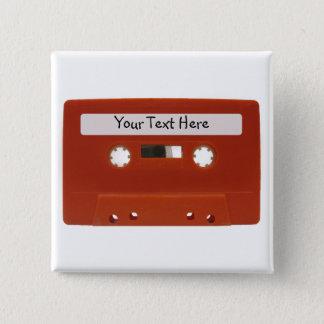 Den röda kassetten tejpar anpassade knäppas standard kanpp fyrkantig 5.1 cm