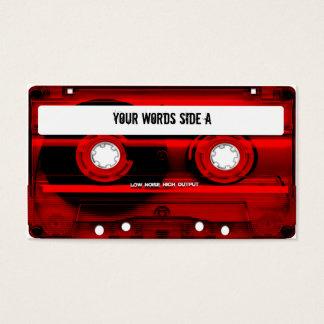 Den röda kassetten tejpar personlig visitkort
