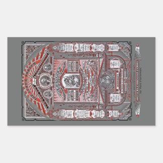(Den röda) lord'sens gravyren för Bön vintage, Retangel Klistermärken