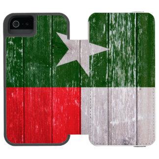 Den röda och gröna Texas flagga målade gammalt trä