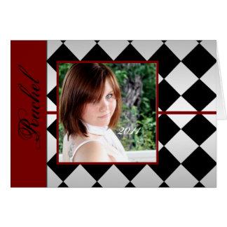 Den röda och svart diamanten belägger med tegel OBS kort