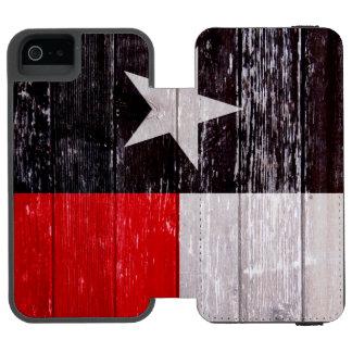 Den röda och svart Texas flagga målade gammalt trä