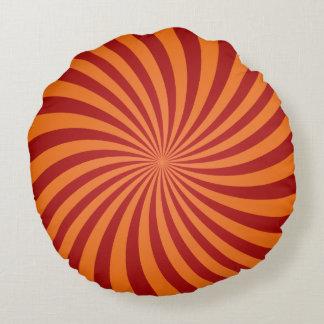 Den röda orangen virvlar runt rund kudde