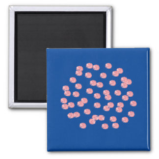 Den röda polka dots kvadrerar magneten magnet