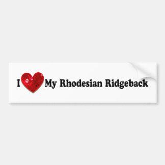Den röda sequinen avbildar den Rhodesian Ridgeback Bildekal