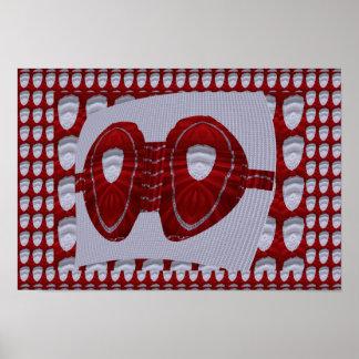 Den röda silkebehådesignen för modeHaute Couture Poster