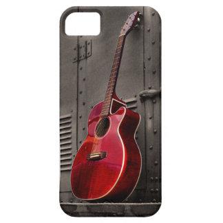 Den röda telefonen för cellen för gitarriPhonen iPhone 5 Case-Mate Fodraler