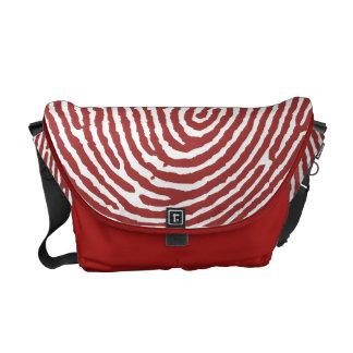 Den röda Thumbprint handgjorda budbärare hänger lö Kurir Väskor