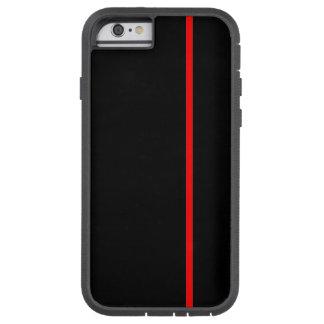 Den röda tunna lodrät fodrar tough xtreme iPhone 6 case