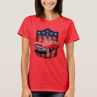Den röda underbara amerikanen skyddar BelAir damer Tee Shirts