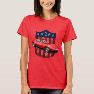 Den röda underbara amerikanen skyddar Pontiac T-shirt