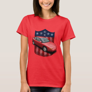 Den röda underbara amerikanen skyddar Saturn Tee