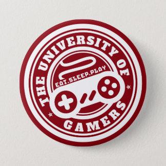 Den röda universiteten av Gamers förseglar dobbel Mellanstor Knapp Rund 7.6 Cm