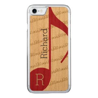den röda verkligen-coolan musikal-noterar carved iPhone 7 skal