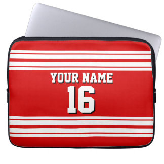 Red White Team Jersey Custom Number Name
