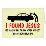 Den roliga ateisten grundar jag Jesus Kort