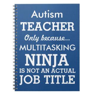 Den roliga Autismsakkunniga behöver lärare Anteckningsbok
